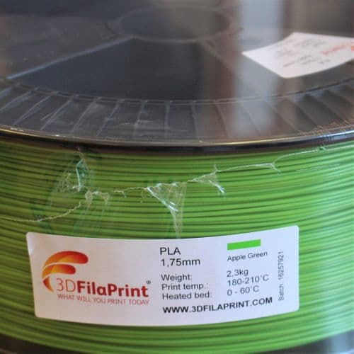2.3KG FilaPrint Apple Green Premium PLA 1.75mm 3D Printer Filament