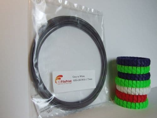 ABS 1.75mm 10 Metre  Grey to White Thermochanging filament