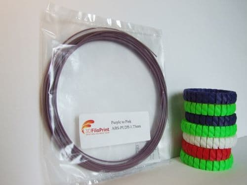 ABS 1.75mm 10 Metre Purple to Pink Thermochanging filament