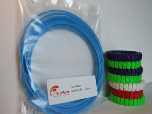 ABS Fluorescent Blue 3mm 5 Metre Wrap