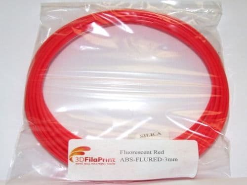 ABS Fluorescent Red 3mm 5 Metre Wrap