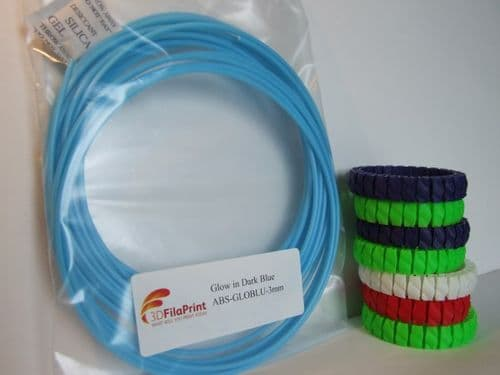ABS Glow in the Dark Blue 3mm 5 Metre Wrap
