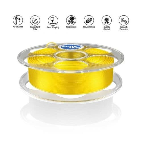 AzureFilm Transparent Yellow PLA 1.75mm 1Kg