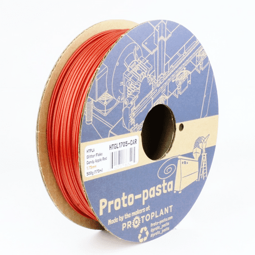 Candy Apple Metallic Red HTPLA  2.85mm 3D printing filament