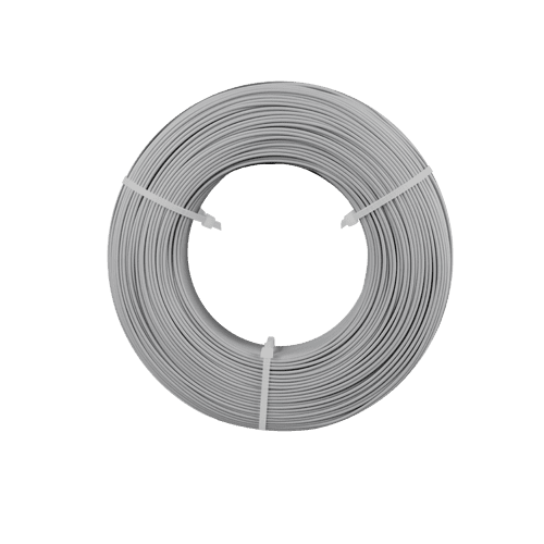 fiberlogy REFILL PET-G 1.75mm Silver coloured 3D printing filament 850gms