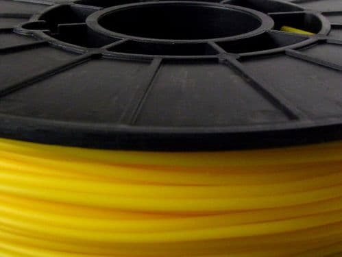 NinjaFlex 85A TPU Yellow Sun 3mm Flexible 3D Printer Filament 500gms