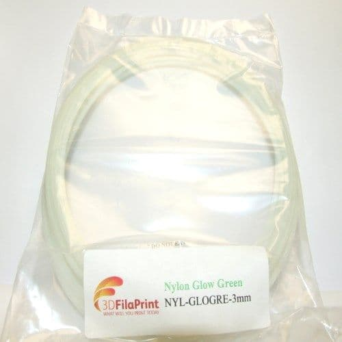 Nylon 6 Glow Green 3mm 5 Metre Wrap