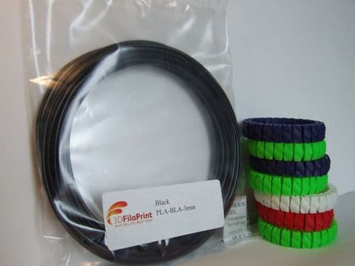 PLA Black 3mm 5 Metre Wrap