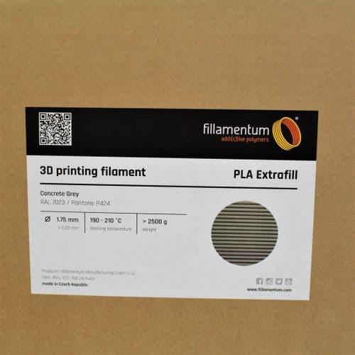 PLA Extrafill Concrete Grey 1.75MM 2.5Kg 3D Printer Filament