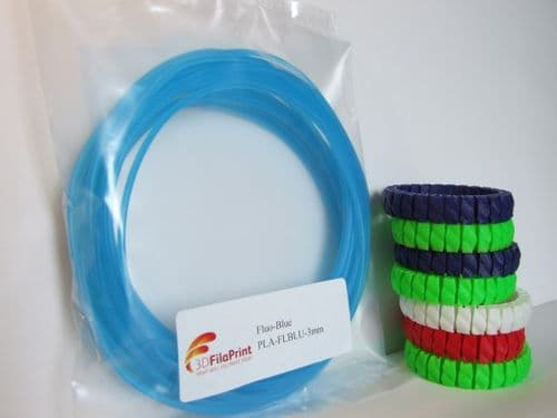 PLA Fluorescent Blue 3mm 5 Metre Wrap