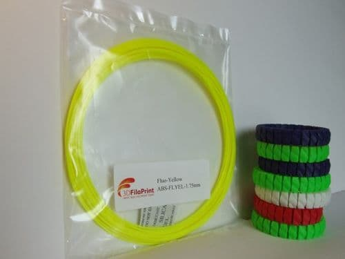 PLA Fluorescent Yellow 1.75mm 10 Metre Wrap