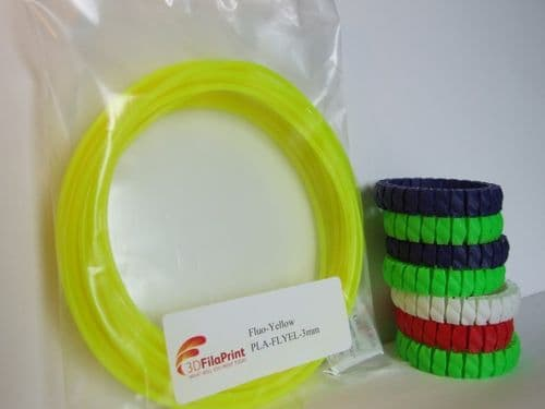 PLA Fluorescent Yellow 3mm 5 Metre Wrap