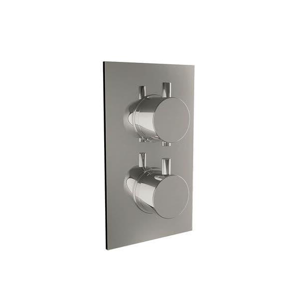 Harrison Bathrooms 2 Outlet Round 2 Handle Concealed Shower Valve with Diverter