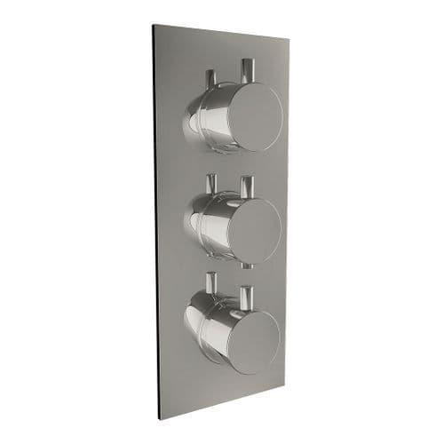 Harrison Bathrooms 3 Outlet Round 3 Handle Concealed Shower Valve with Diverter
