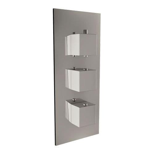 Harrison Bathrooms 3 Outlet Square 3 Handle Concealed Shower Valve with Diverter