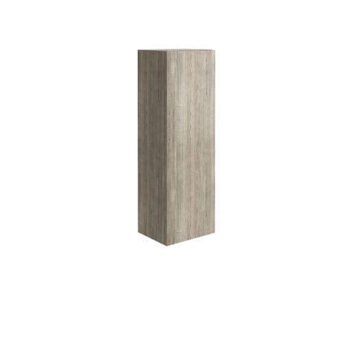 Harrison Bathrooms Ambience Wall Hung Tall Boy Cabinet Grey Oak