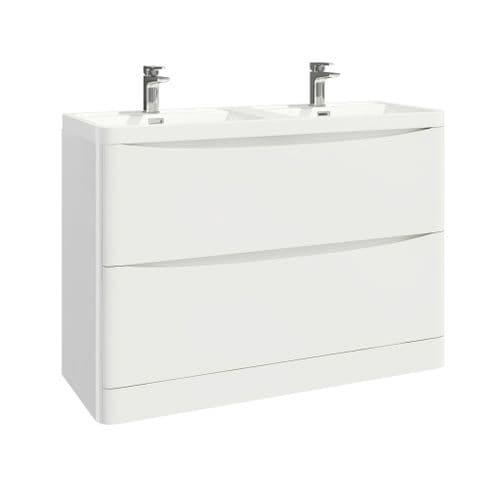 Harrison Bathrooms Bella 1200mm Gloss White Basin Unit With Basin