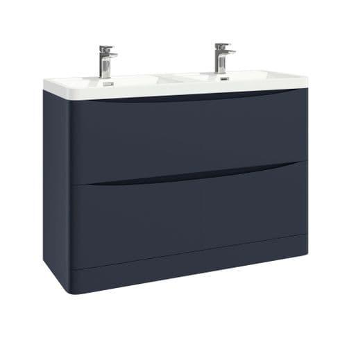 Harrison Bathrooms Bella 1200mm Indigo Blue Basin Unit With Basin