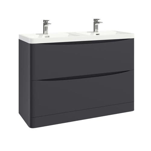 Harrison Bathrooms Bella 1200mm Matt Grey Basin Unit With Basin