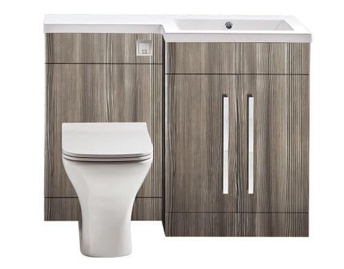 Harrison Bathrooms Lili 1100mm Avola Grey Combination Unit With Basin