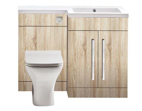 Harrison Bathrooms Lili 1100mm Bardolino Driftwood Oak Combination Unit With Basin