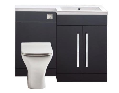 Harrison Bathrooms Lili 1100mm Matt Grey Combination Unit With Basin