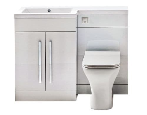 Harrison Bathrooms Lili 1100mm White Gloss Combination Unit With Basin
