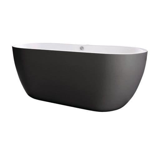 Harrison Bathrooms Onyx 1655mm x 750mm Matt Black Freestanding Bath