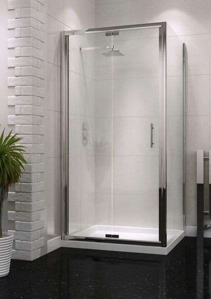 Harrison Bathrooms S6 800mm Bifold Semi Frameless Shower Door