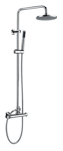 Harrison Bathrooms Tidy Round Rigid Riser Shower