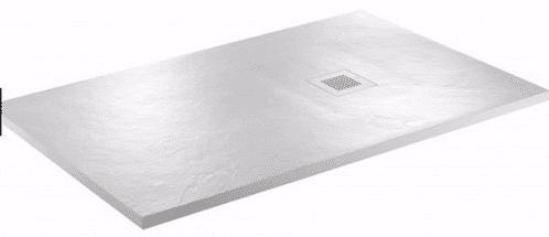JT Softstone 1000 x 800 White Slate Effect Shower Tray