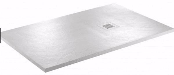 JT Softstone White 1000 x 800 Aqua Cushion Shower Tray