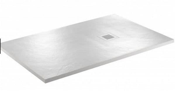 JT Softstone 1600 x 800 White Slate Shower Tray