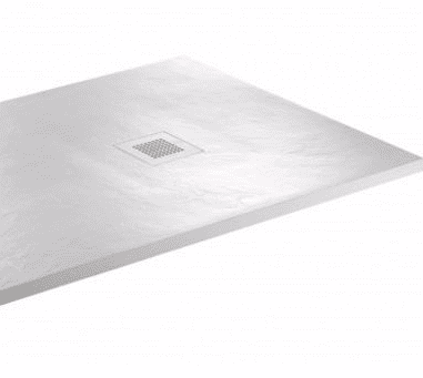 JT Softstone 800 x 800 White Slate Shower Tray
