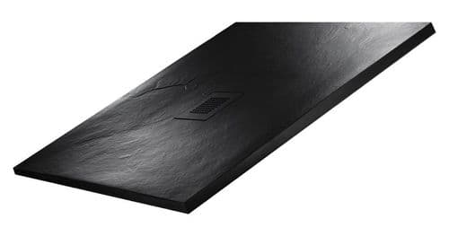 JT Softstone 900 x 800 Black Slate Effect Shower Tray