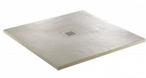 JT Softstone 900 x 800 Cream Slate Effect Shower Tray