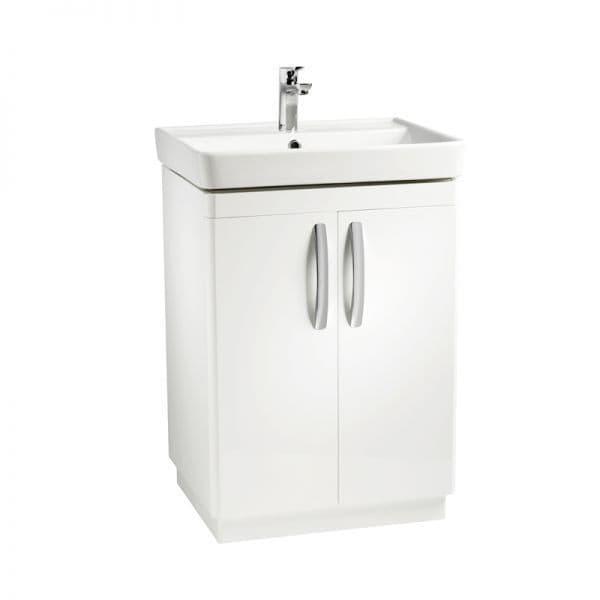 Tavistock Compass 600mm Double Door Basin Unit Gloss White