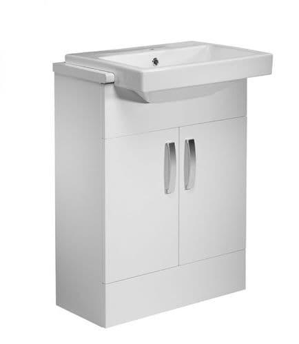 Tavistock Courier 600mm Semi Countertop Basin Unit Gloss White