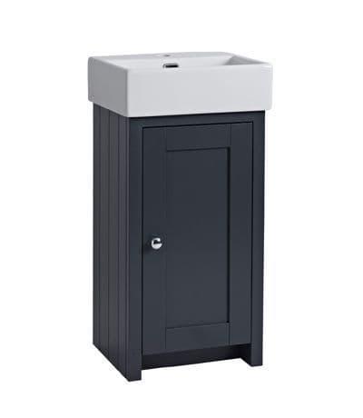 Tavistock Lansdown 430mm Cloakroom Unit Matt Dark Grey