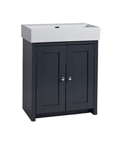 Tavistock Lansdown 700mm Basin Unit Matt Dark Grey