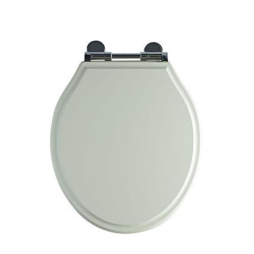 Tavistock Soft Close Wooden Toilet Seat Linen White