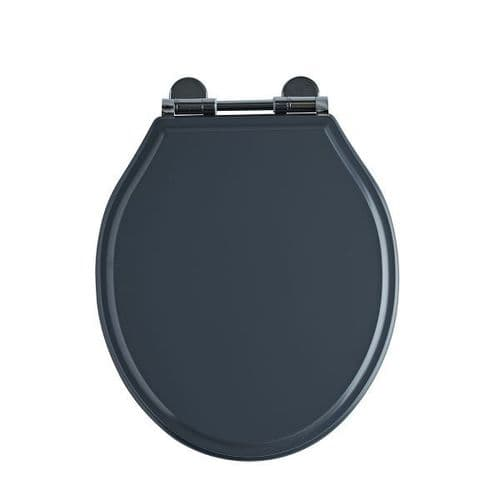 Tavistock Soft Close Wooden Toilet Seat Matt Dark Grey
