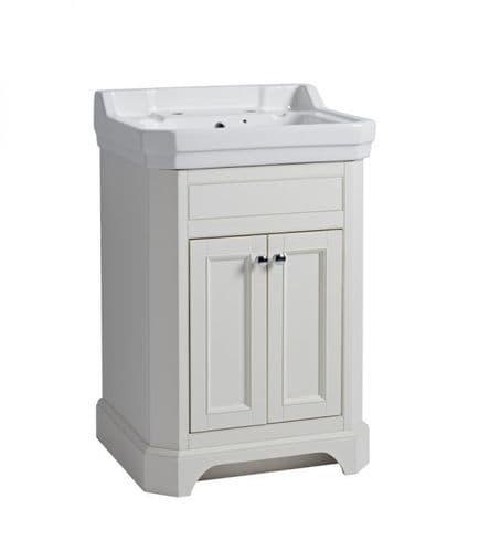Tavistock Vitoria 600mm Basin Unit Linen White