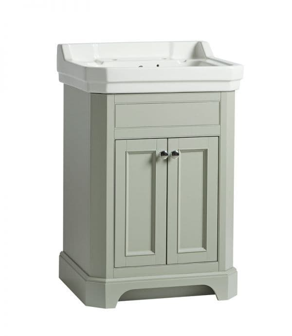 Tavistock Vitoria 600mm Basin Unit Pebble Grey