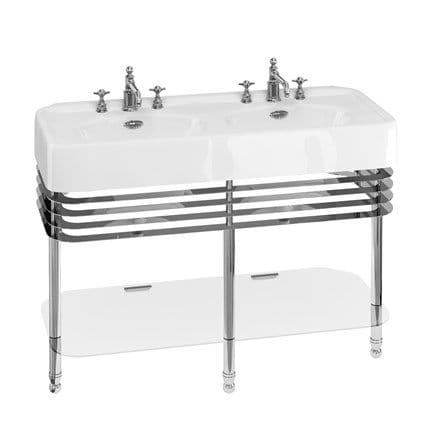Burlington Arcade 1200mm Double Basin With Overflow & Wash Stand
