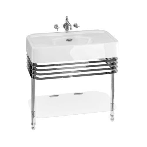 Burlington Arcade 900mm Basin With Overflow & Wash Stand