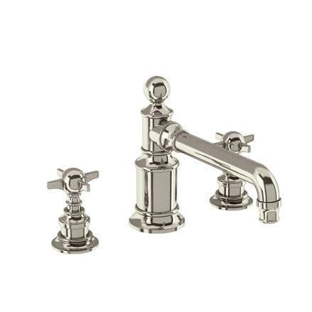 Burlington Arcade Nickel 3 Hole Basin Mixer Without Waste