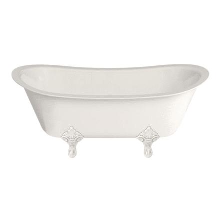 Burlington Batello Medici Grande Freestanding Bath With Standard Feet Options