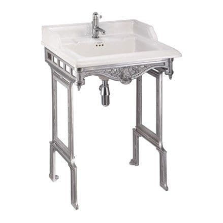 Burlington Classic 65cm Basin & Brushed Aluminium Wash Stand