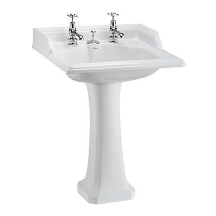 Burlington Classic 65cm Basin With Invisible Overflow & Classic Pedestal
